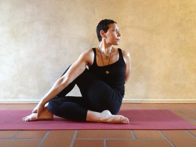 Marisol in Ardha Matsyendrasana, Ashtanga Yoga